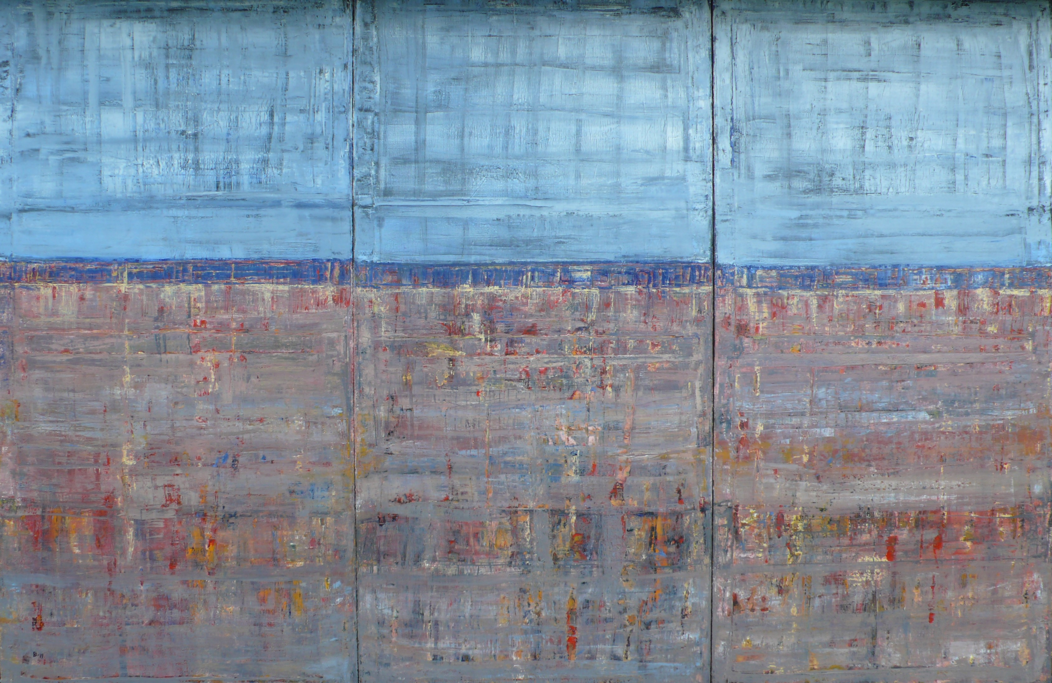 Pictures From No Man`s Land, 2018, oil on canvas, 240x330cm